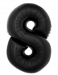 Musta alumiinipallo luku 8 100cm