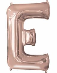 Ruusukullanvärinen E-kirjain 53 x 81 cm