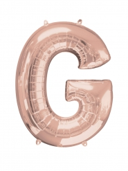 Ruusukullanvärinen G-kirjain 63 x 81 cm
