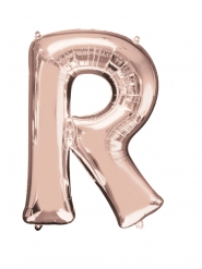 Ruusukullanvärinen R-kirjain 58 x 81 cm