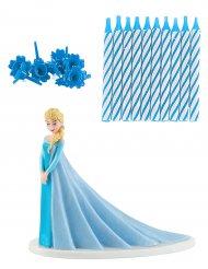 Frozen™ Elsa -kakkukoriste ja kynttilät