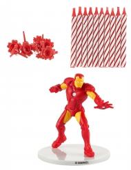 Iron Man™ -kakkukynttilät ja koriste