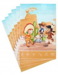 Cowboy ja intiaani - lahjapussit 15 x 23 cm 6 kpl