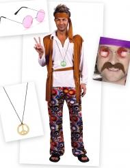 Hippi-naamiaisasusetti miehelle