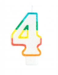 Kakkukynttilä numerolla 4