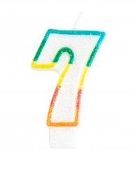 Kakkukynttilä numerolla 7