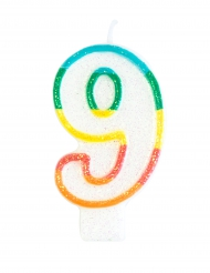 Kakkukynttilä numerolla 9