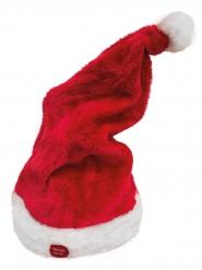 Punainen joulun tunttulakki äänellä ja liikkellä