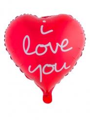 I love you -alumiinipallo 52 x 46 cm