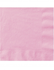 Vaaleanpunaiset lautasliinat 50 kpl
