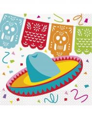16 Meksikolainen hattu-servettiä 33x33 cm