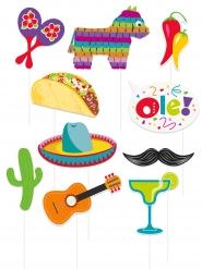 Meksikolainen Fiesta Photo Booth-setti 10 asustetta