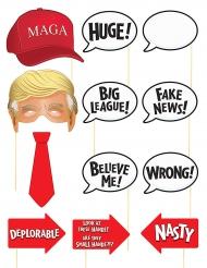 Yhdysvaltain presidentin photobooth-setti 12 asustetta