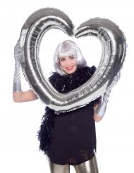 Sydän-alumiinipallo (hopea)