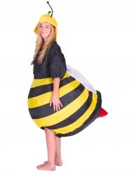 Puhallettava mehiläis-naamiaisasu aikuisille