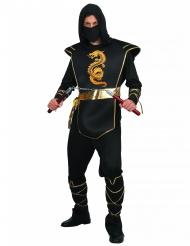 Kultainen lohikäärme - Ninjan naamiaisasu aikuiselle