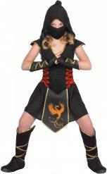 Kultainen feeniks - Ninjan naamiaisasu lapselle