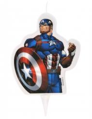 Captain America™ -kakkukynttilä 6 x 7,3 cm
