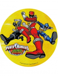 Power Rangers™ Dino Supercharge - Keltainen kakkukuva 21 cm