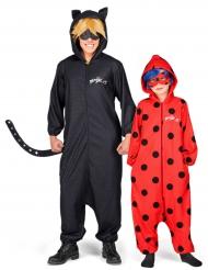Miraculous™ Cat Noir ja Ladybug -naamiaisasusetti isälle ja tyttärelle