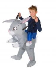 Jäniksen selässä Carry Me -naamiaispuku lapselle