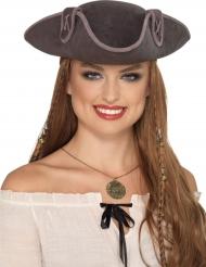 Merirosvon harmaa hattu aikuiselle