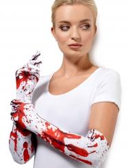 Pitkät veriset hanskat aikuiselle