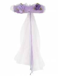 Violetti kukkaisneidon seppele lapselle