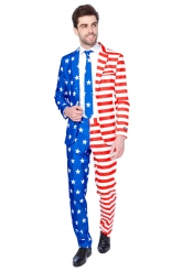 Mr. USA Flag Suitmeister™-puku miehelle