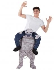 Mies muumion selässä- Morphsuits™- naamiaisasu miehelle