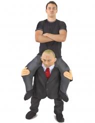 Mies Putinin selässä Morphsuits- naamiaisasu aikuiselle