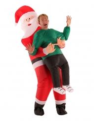 Mies joulupukin sylissä- naamiasiasu aikuiselle Morphsuits™
