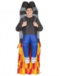 Morphsuits™ -mies raketin kyydissä- asu miehelle