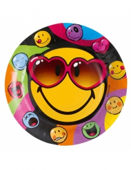Smiley World™ -paperilautaset 8 kpl