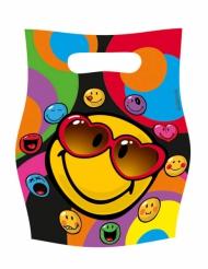 Smiley World™-lahjapussit 16 x 23 cm 6 kpl