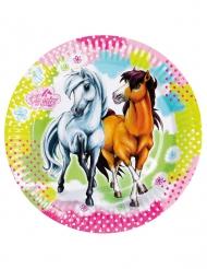 Charming Horses-pahvilautaset 23 cm 8 kpl