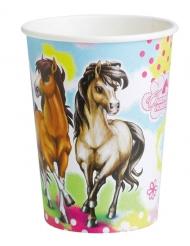 Charming horses-pahvimukit 8 kpl 250 ml