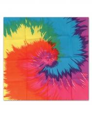 Värikäs hippihuivi 55 x 55 cm