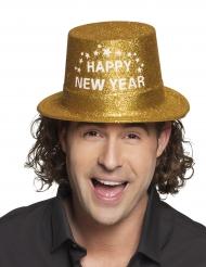 Kullanvärinen Happy new year-hattu aikuiselle