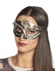 Hopeanvärinen Steampunk- silmikko naiselle