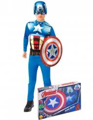 Klassinen Kapteeni Amerikan™ naamiaisasusetti pojalle