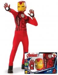 Klassinen Iron Man™-naamiaisasusetti sekä hanskat pojalle