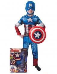 Kapteeni Amerikka™ -lasten naamiaisasu ja kilpi