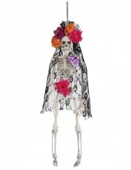 Dia de los muertos- meksikolaisen lesken luuranko 40 cm