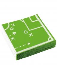 Jalkapalloservetit 20 kpl 33 x 33 cm