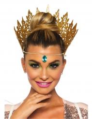 Seksikkään kuningattaren kullanvärinen kruunu naiselle