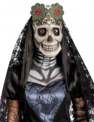 Kankainen Dia de los muertos- naamari aikuiselle