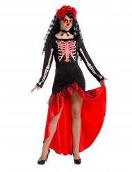Dia de los muertos- flamenco tanssijan naamiaisasu naiselle