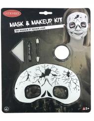 Luurangon meikkisetti ja naamari halloweeniksi