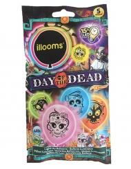 Illooms™- moniväriset Dia de los muertos- ilmapallot 5 kpl